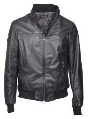 giacca-uomo-a-bomber-sportiva-nera-in-pelle-di-agnello-nappato_bomber_1