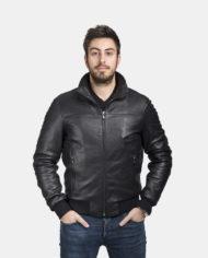 giacca-uomo-a-bomber-sportiva-nera-in-pelle-di-agnello-nappato_bomber_7