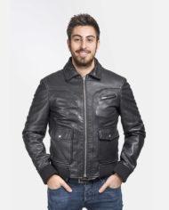 giacca-uomo-sportiva-nera-in-pelle-di-agnello-nappato_Avion_5