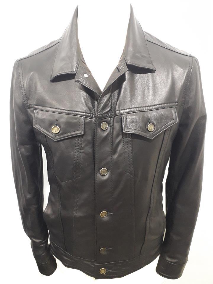 design di qualità 1b013 9f4b0 Giacca uomo 100% vera pelle agnello nappato stile camicia