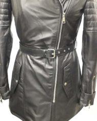 Giacca donna lunga nera biker in vera pelle_Aris_la_pelle_murier_6